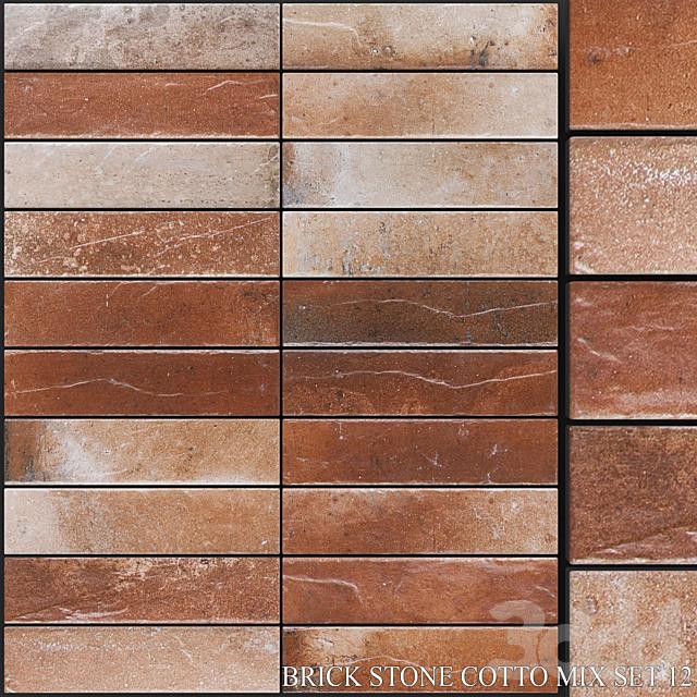 Yurtbay Seramik Brick Stone Cotto Mix Set 12
