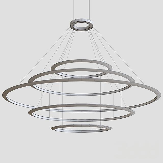 Circular Suspended Lamp by GROK v5