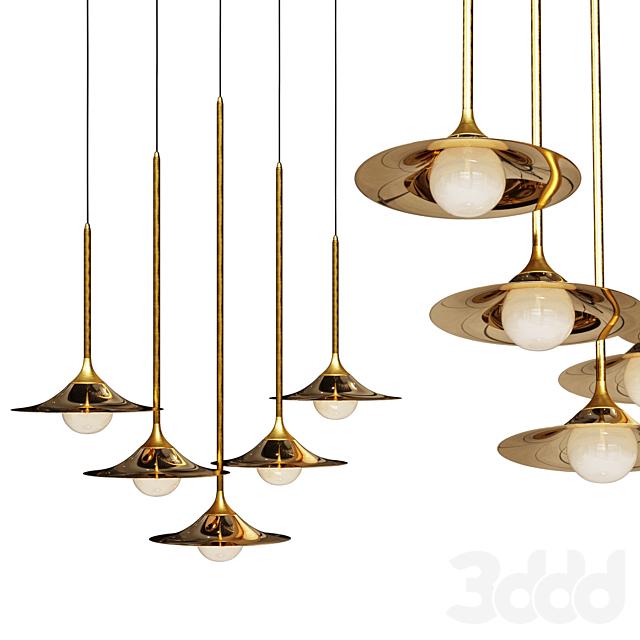 Подвесной светильник Bullarum SS-1 Disk Gold