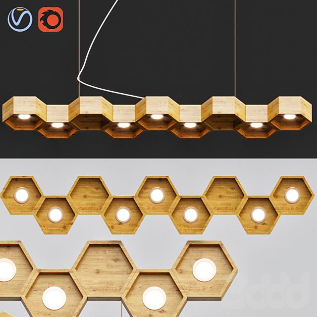 Honeycomb 7 Loft Wooden Ecolight