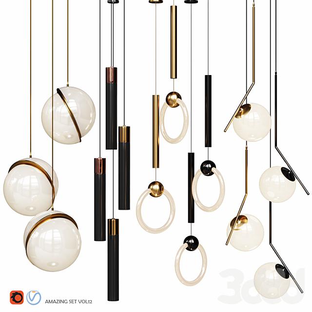 Four Pendant Lights amazing set vol12