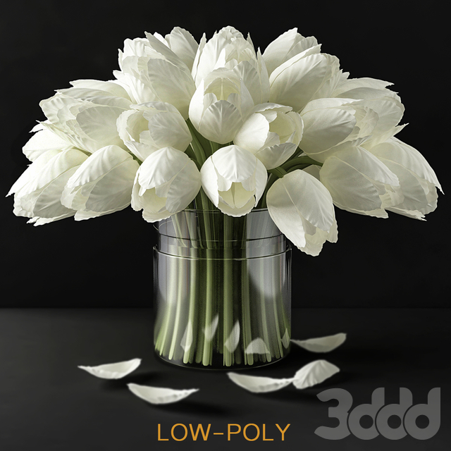 Handcrafted Real Touch Tulips (low poly)