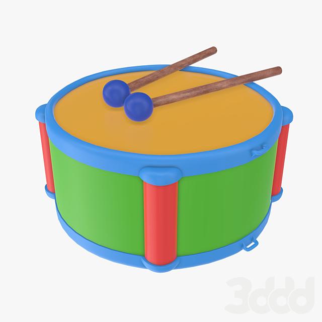 Toy drum with sticks