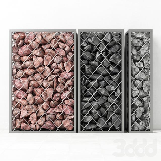 Габионы средние из скального камня / Gabion medium rock stone