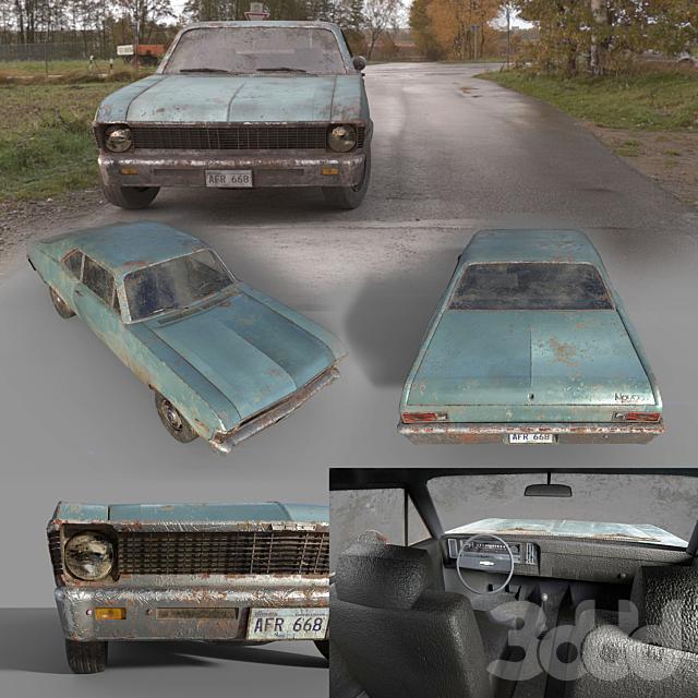 Chevrolet Nova 1969 Low Poly