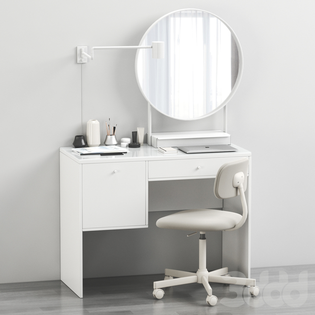 Ikea SYVDE dressing table and decor