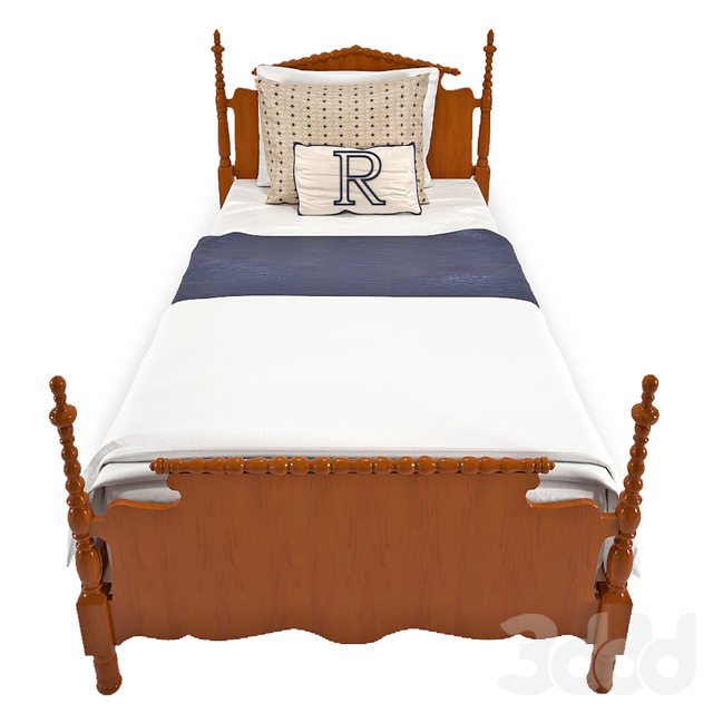 Antique family bed