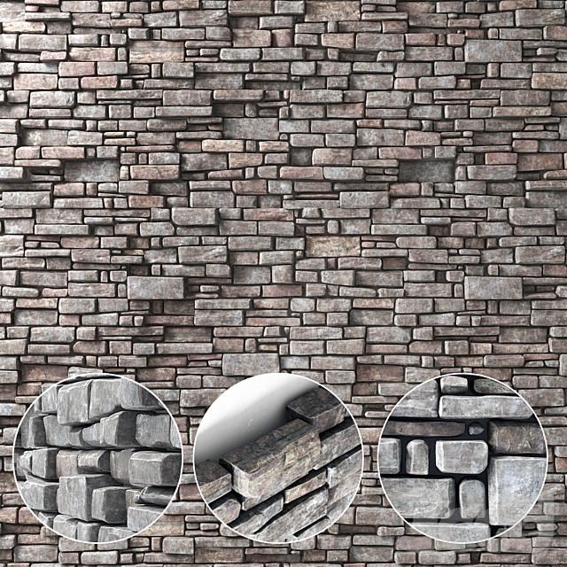 Стена из каменного кирпича / Wall stone brick