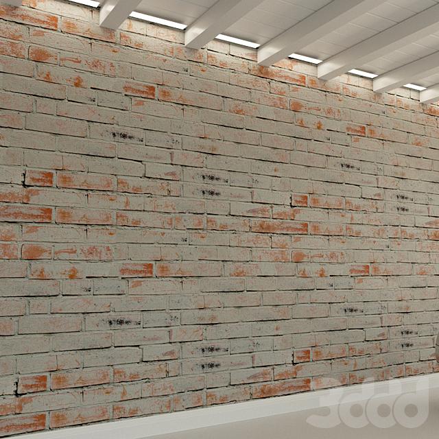 Кирпичная стена. Старый кирпич. 82