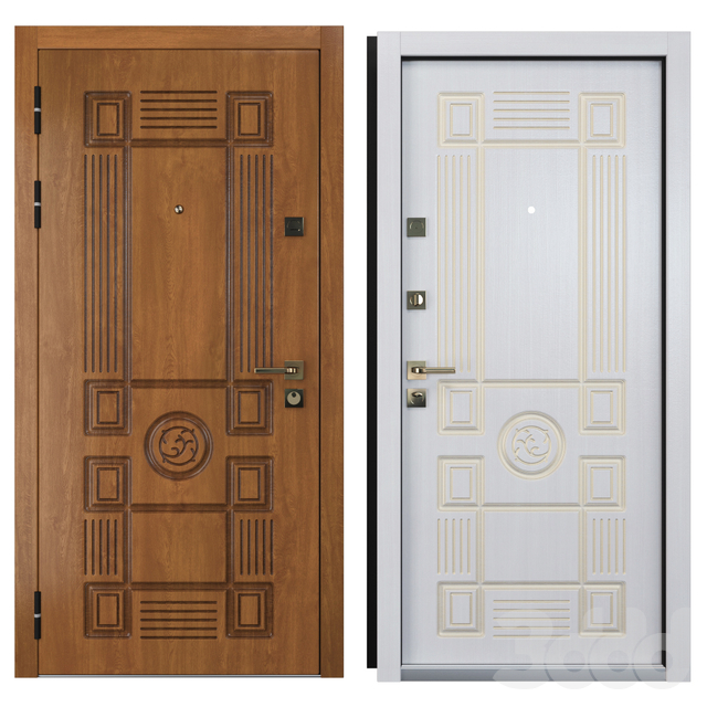 Входная металлическая дверь Вежа 5 (Ваша Рамка)
