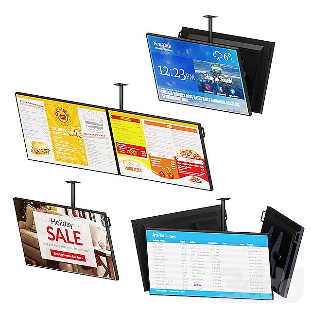 Информационные дисплеи с потолочным креплением