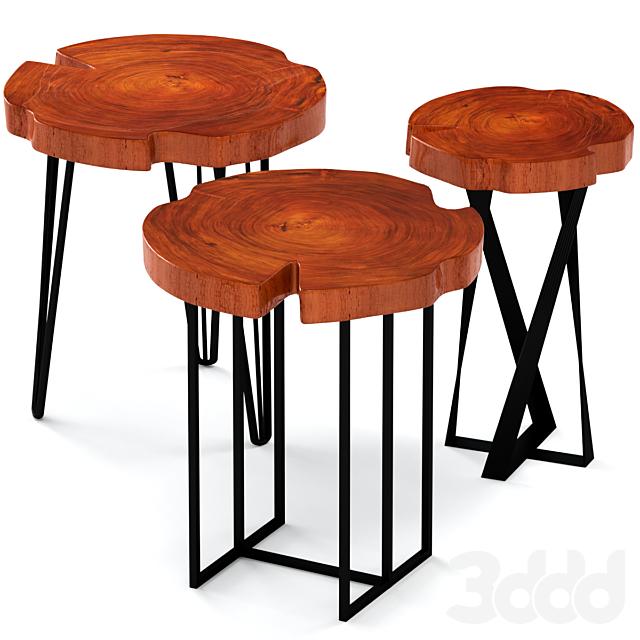 Кофейные столики из слэба.