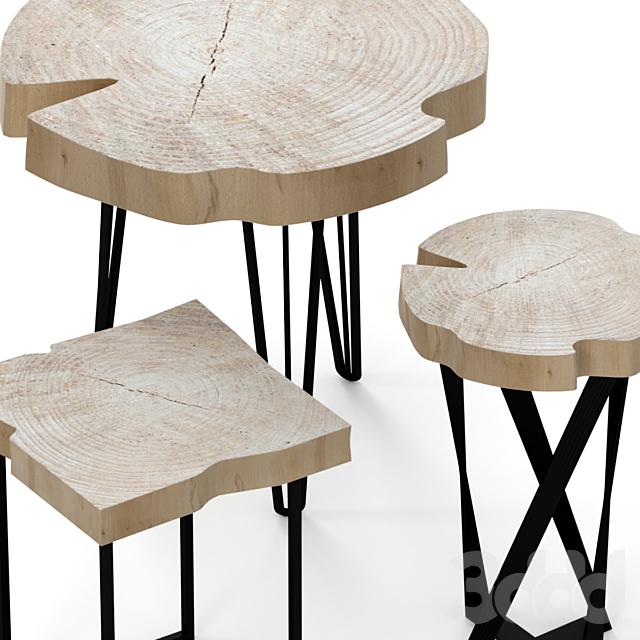 Набор деревянных стульев из слэба.