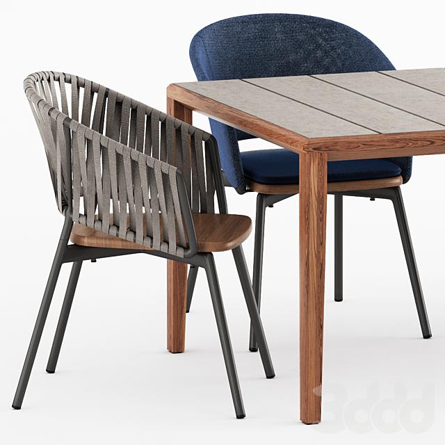 TEKA 173 table, PIPER 022, 122 by Roda