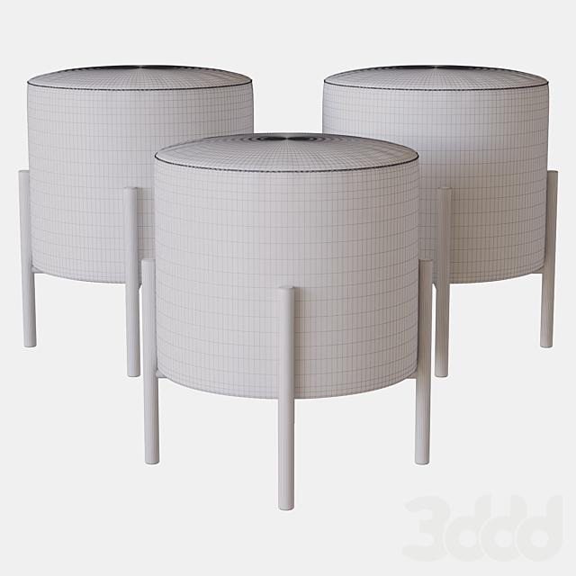 round puof 4rooms
