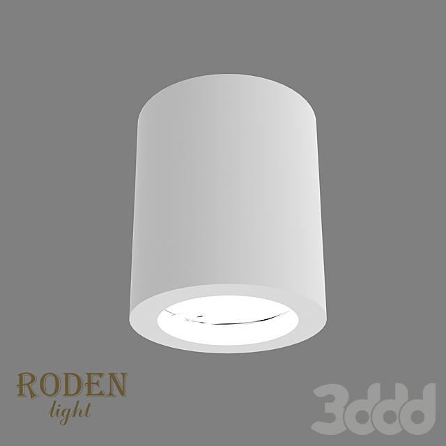 OM Универсальный, накладной или врезной гипсовый светильник RODEN-light RD-52 MR-16
