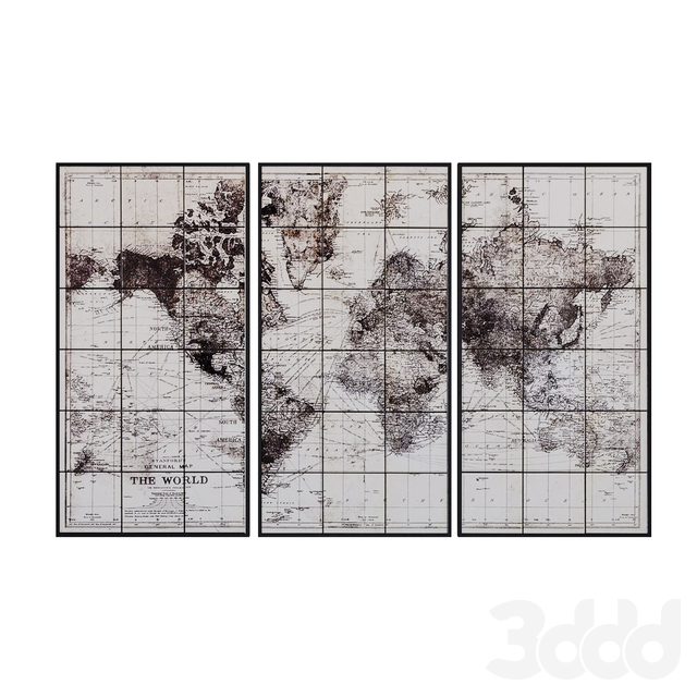 Maisons du Monde World map decor 2