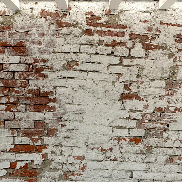 Кирпичная стена. Старый кирпич. 94