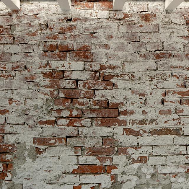 Кирпичная стена. Старый кирпич. 95