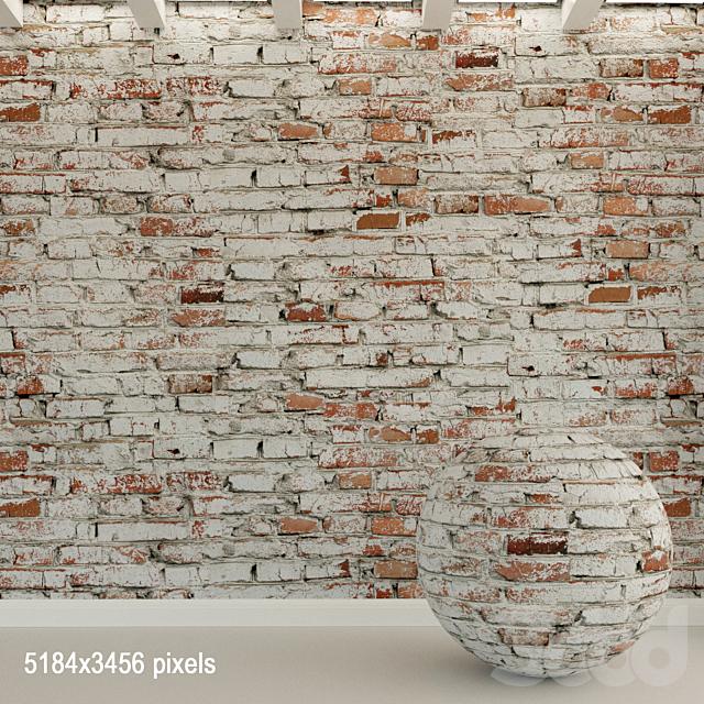 Кирпичная стена. Старый кирпич. 97