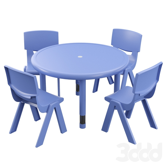 Hafner 5 Piece Circular Activity Table