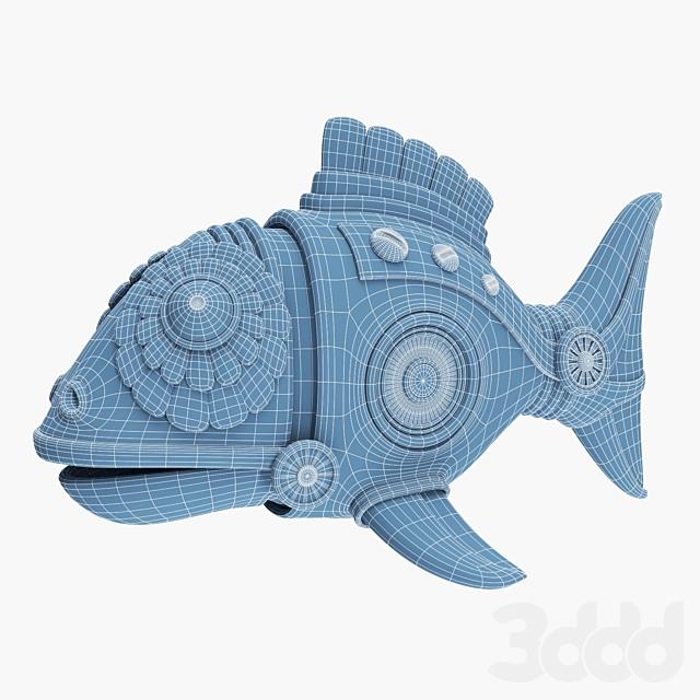 Фигурка рыбы в стиле стимпанк