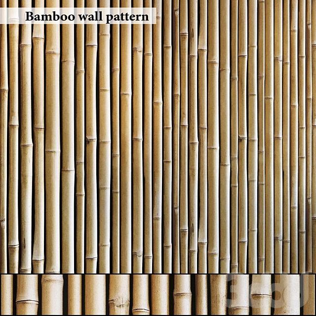Бамбуковая стена бесшовная