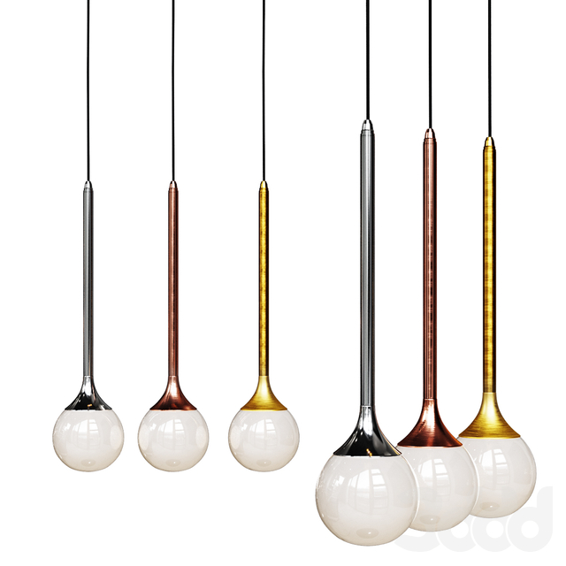 Подвесной светильник Bullarum SS-1 gold,chrome and copper body clear glass shade