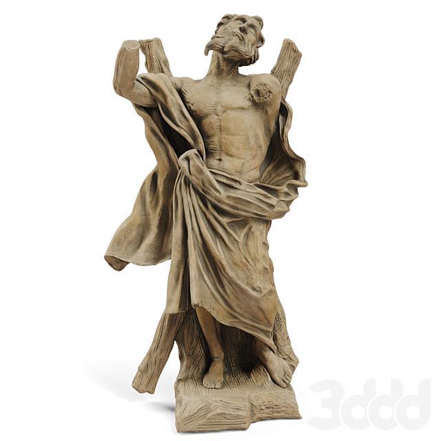 Classic sculpture Ercole Ferrata ST ANDREW THE APOSTLE