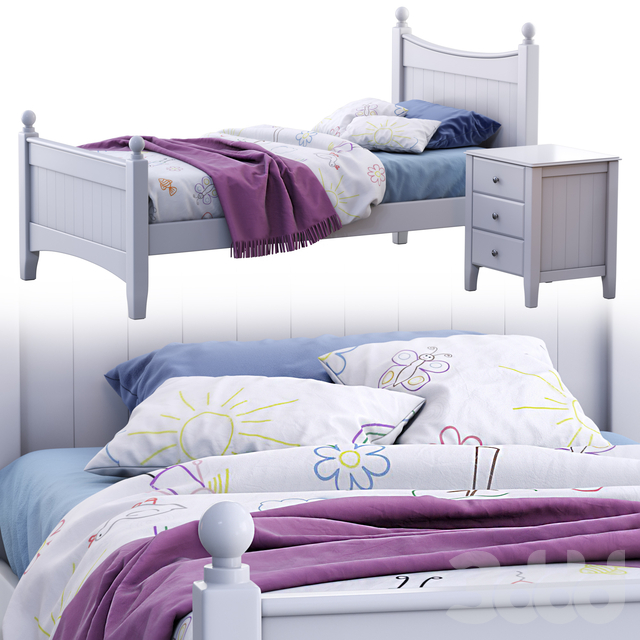 Angel single bed (variant 1)