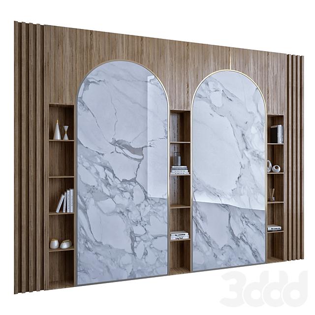 Wood & Marble Shelf 1