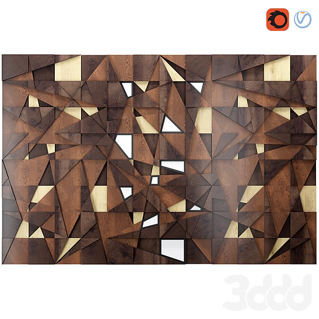 Decor backlit wood panel