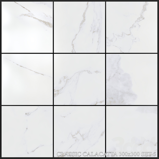 Yurtbay Seramik Classic Calacatta 300x300 Set 5