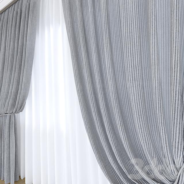 Портьера с римской шторой
