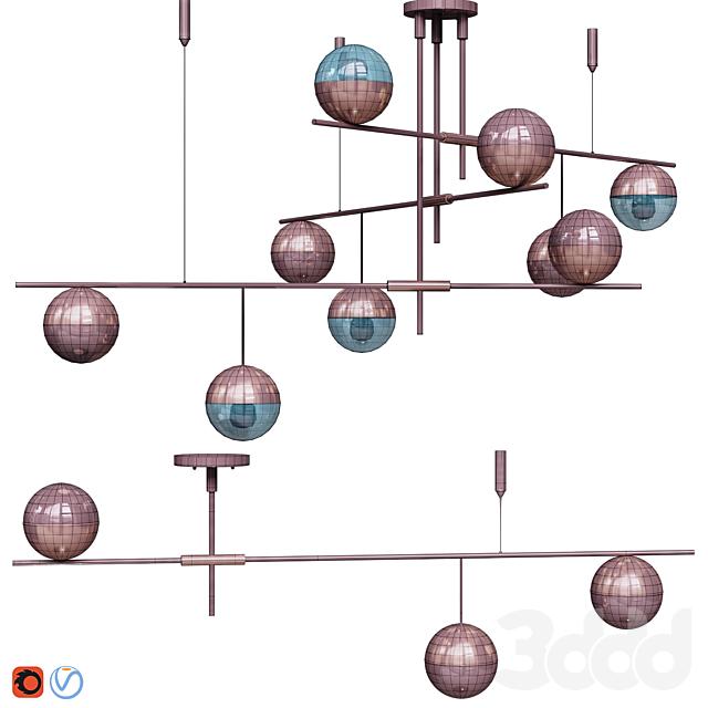 Lampatron Technum Chandelier set.v1  3 and 9 shades