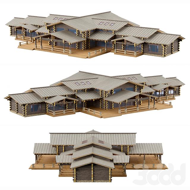 деревянный коттедж Сруб