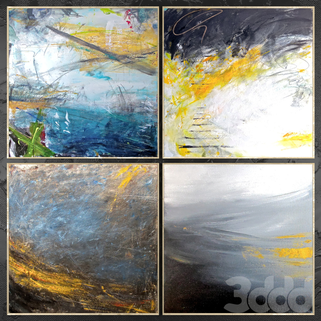 Paintings abstract   set 450
