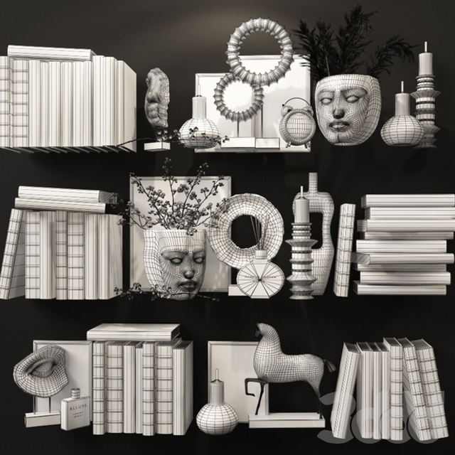 Декоративный набор для наполнения полок 6