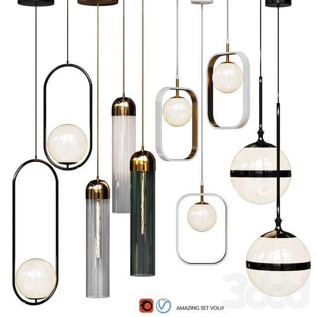 Four Pendant Lights amazing set vol.17