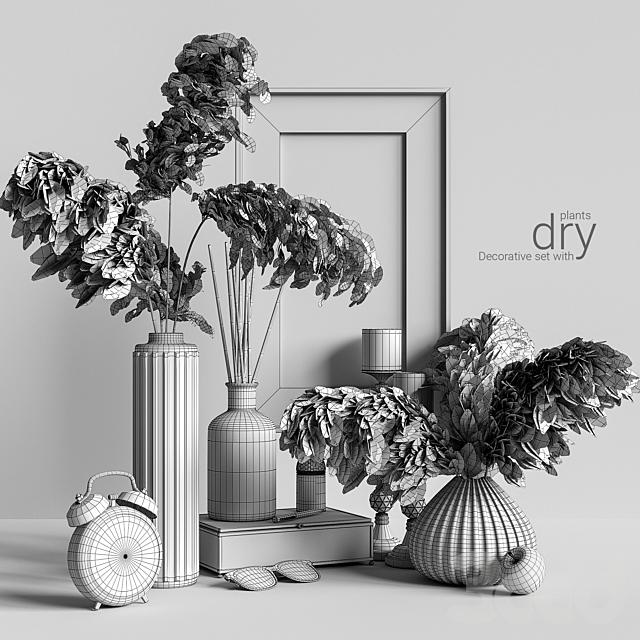 Decorative set with dry plants 2