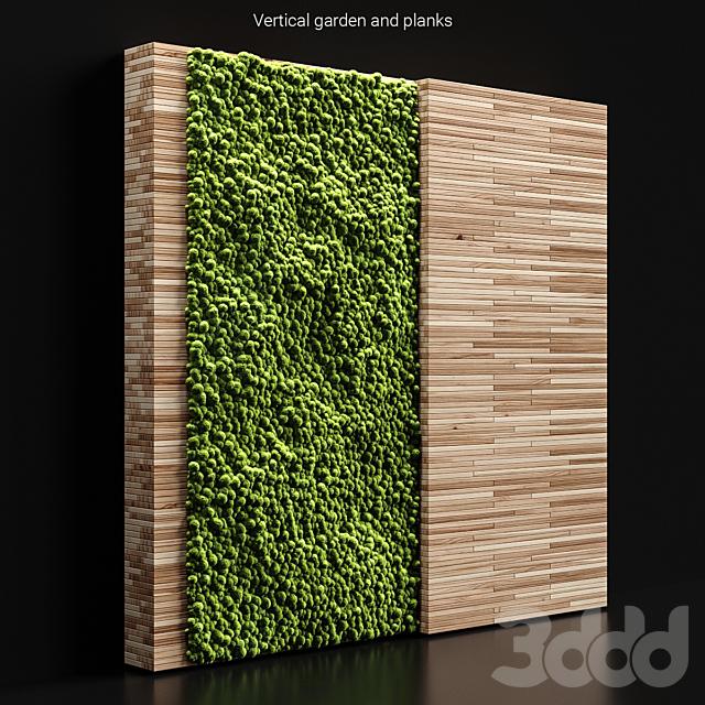 Vertical garden and planks 2