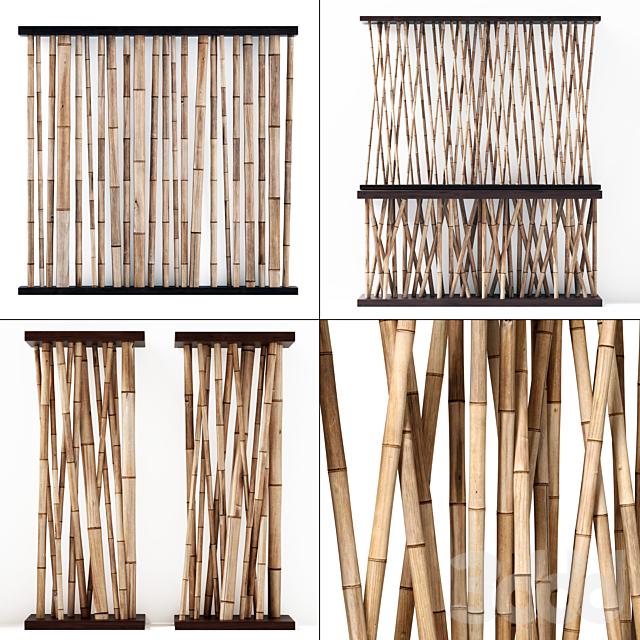 Бамбук декор перегородки в кафе / Bamboo decor wall cafe