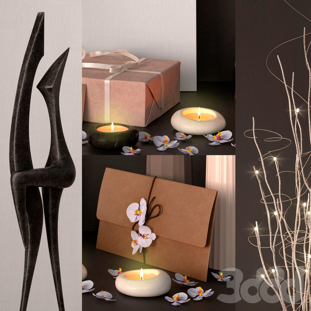 Decor – Luminous branches set