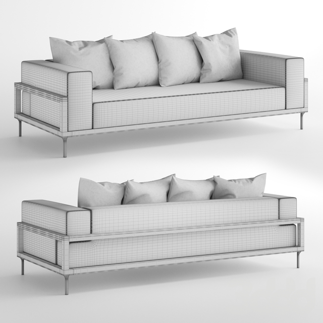 Talenti Cleo Alu Three-Seater Sofa / Трехместный диван