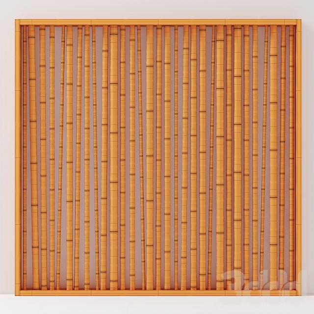 Branch bamboo wall / Перегородка из веток бамбука
