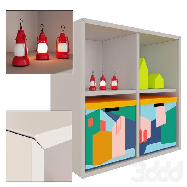 IKEA ,EKET cabinet with 4 compartments
