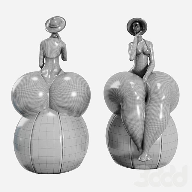 Beautiful Chubby Woman Figurine