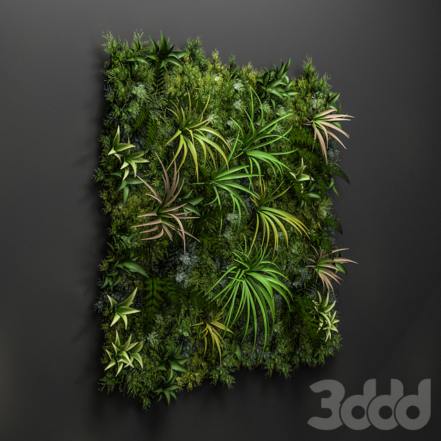 Low poly Vertical Garden