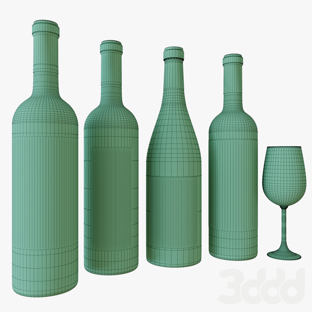 wine bottle set 5