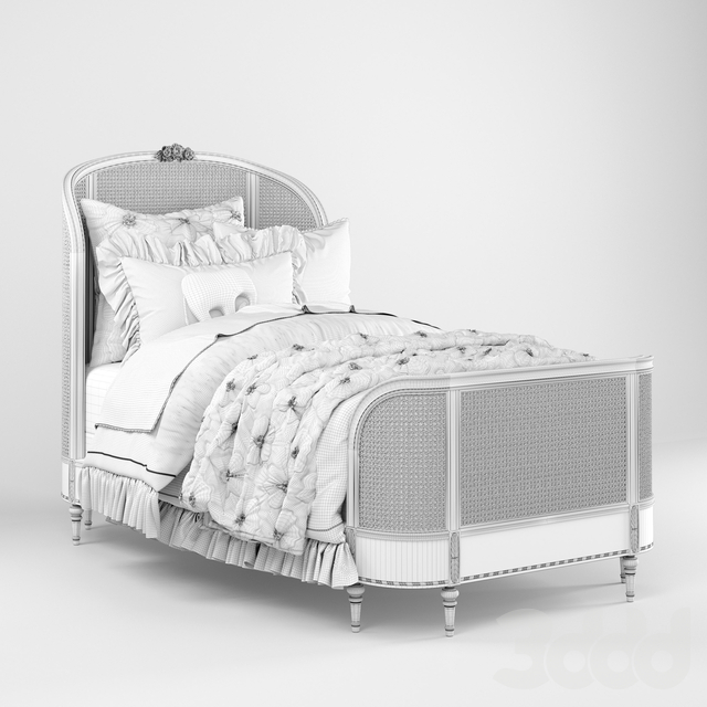 AVELINE CANE PANEL BED, Restoration Hardware